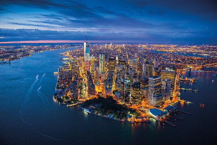 【送料¥290〜】ニューヨーク マンハッタン ポスター Jason Hawkes (New York)【170303】