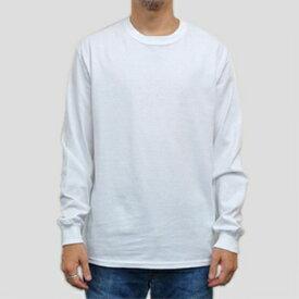 ギルダン ウルトラコットン 長袖Tシャツ GILDAN / 6oz (6オンス)ロンT USAモデル・ホワイト t2400wh