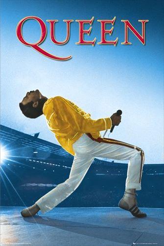 クイーン ポスター QUEEN Wembley フレディ・マーキュリー、 ボヘミアン・ラプソディ、ライブエイド(190111)
