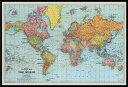 世界地図 ポスター フレームセット Stanfords General Map Of The World (Colour) (180524)