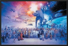 スター・ウォーズ ポスターフレームセット オールキャスト Star Wars Complete Cast