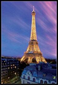 エッフェル塔 ポスター フレームセット Eiffel Tower- Dusk