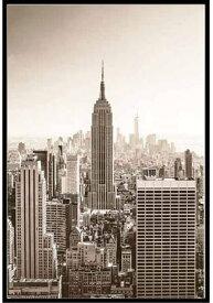 ニューヨークの夜明け ポスター フレームセット New york at dawn