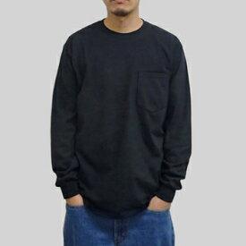 ギルダン ウルトラコットン 長袖ポケット T シャツ GILDAN / 6oz(6オンス)ロンT ポケットT USAモデル・ブラック t2401bk