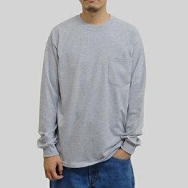 ギルダン ウルトラコットン 長袖ポケット T シャツ GILDAN / 6oz(6オンス)ロンT ポケットT USAモデル t2401gy