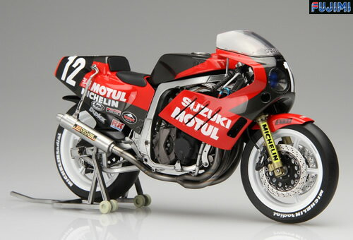 プラモデル FUJIMI フジミバイクシリーズ NO.2 1/12 スズキ GSX-R750ヨシムラ1986年TT-F1仕様