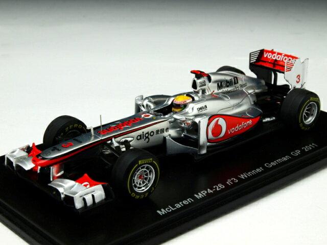 ミニカー 1/43 スパーク Spark マクラーレン MP4-26 2011年 ドイツGP 優勝 #3 ルイス・ハミルトン(S3030)