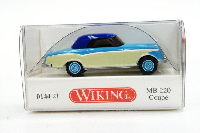 ミニカー 1/87 ヴィーキング WIKING メルセデスベンツ 220 クーペ ブルー/ホワイト(014421)【メルセデス・ベンツ】