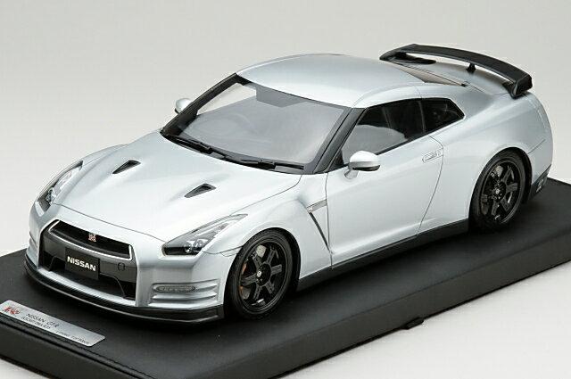 ミニカー 1/18 マーク MARK ニッサン GT-R(R35) エゴイスト 2013年式 アルティメイトメタルシルバー 限定50台 (PM1803S)