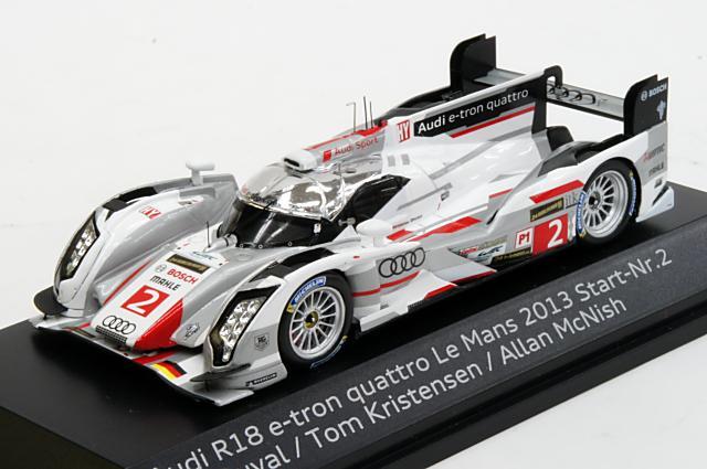 ミニカー 1/43 アウディ特注/スパーク Audi/Spark(5021300223) アウディ R18 e-tron quattro 2013年 ル・マン24時間耐久レース 優勝 #2 L.Duval/T.Kristensen/A.McNish