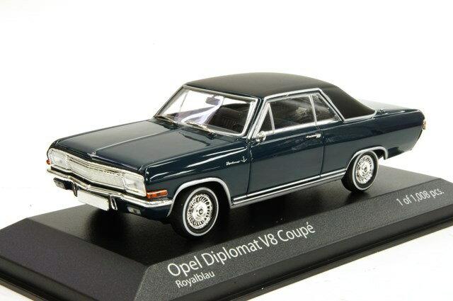 ミニカー 1/43 ミニチャンプス MINICHAMPS オペル ディプロマート V8 クーペ 1965年 ブルー(400048021)