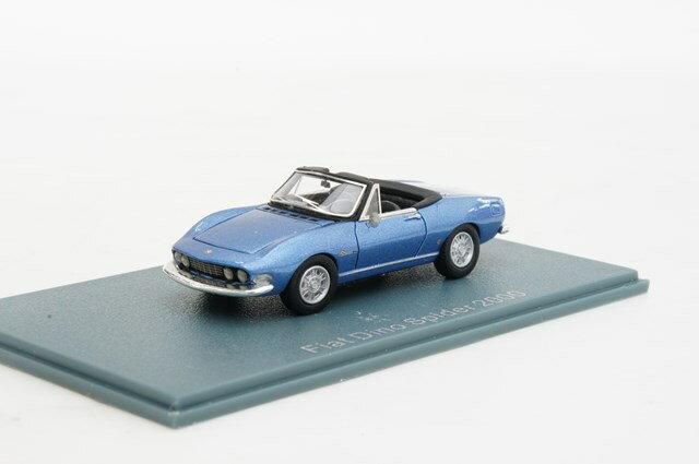 ミニカー 1/87 ネオ NEO フィアット ディーノ スパイダー 2000 ピニンファリナ 1966年 ブルー(NEO87481)【フィアット】