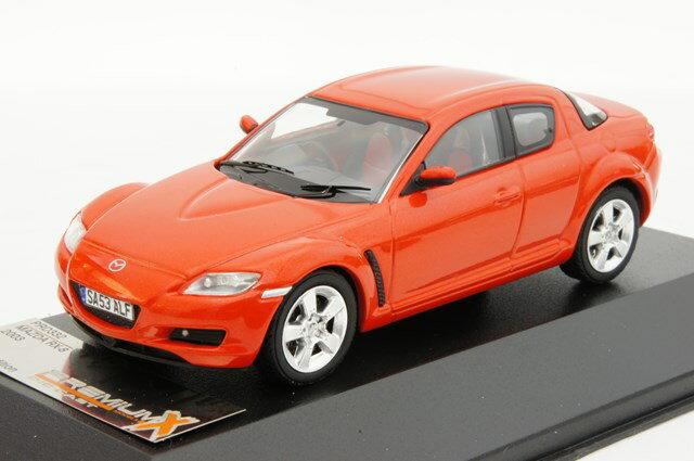 ミニカー 1/43 プレミアムX PREMIUM X マツダ RX-8 2003年 オレンジレッド(PRD332)