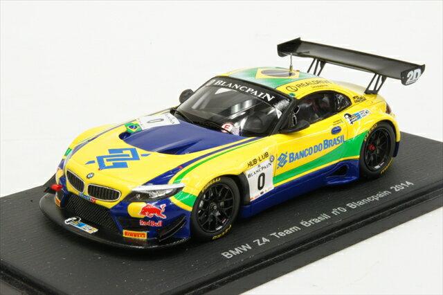 """ミニカー 1/43 スパーク Spark(SP051) BMW Z4 GT3 """"チーム・ブラジル"""" 2014年 ブランパン #0 C.Bueno/S.Jimenez"""