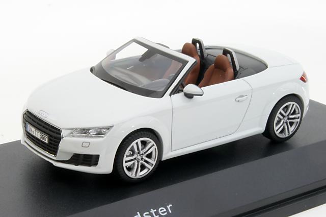 ミニカー 1/43 アウディ特注/京商 Audi/KYOSHO(5011400513) アウディ TT ロードスター 2014年 ホワイト