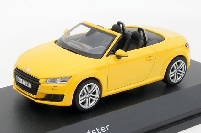 ミニカー 1/43 アウディ特注/京商 Audi/KYOSHO(5011400523) アウディ TT ロードスター 2014年 イエロー