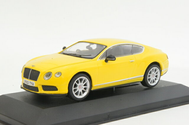 """ミニカー 1/43 コーギー CORGI(CC57002) ベントレー コンチネンタル GT V8 S UK """"プレスカー"""" モナコイエロー"""