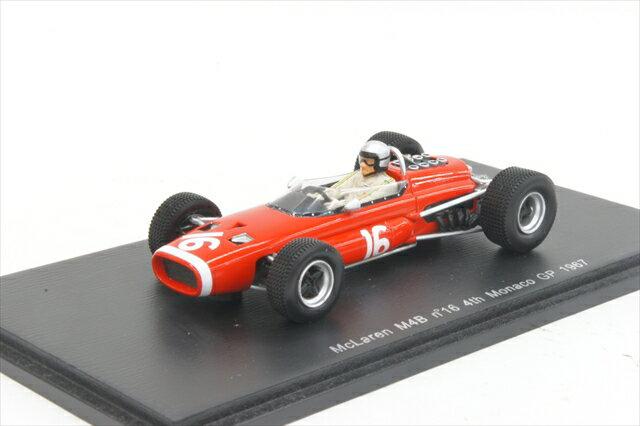 ミニカー 1/43 スパーク Spark(S3138) マクラーレン M4B 1967年 モナコGP 4位 No.16 B.McLaren