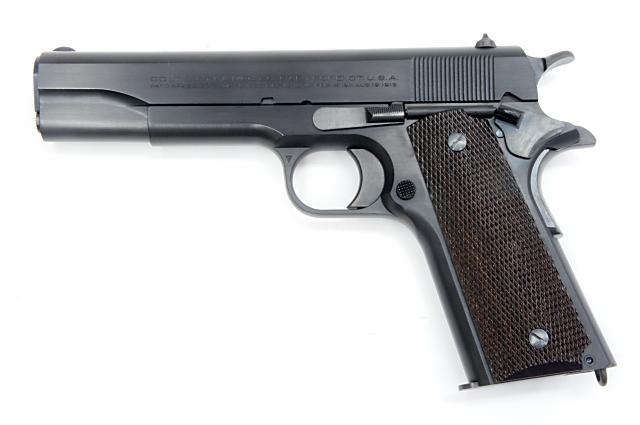 """モデルガン 六研 / エラン ROCKEN/ELAN コルト 1911 ニュースタイルスライドマーキング Famous Movie Gun Series """"DOC""""MODEL ブローバック 発火式 ブローバックモデル"""