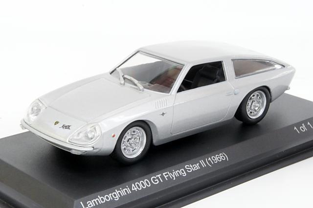 ミニカー 1/43 ホワイトボックス WHITEBOX(WB507) ランボルギーニ 4000GT フライングスターII 1966年 コンセプトシルバー