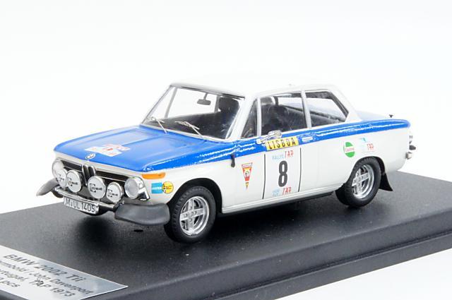 ミニカー 1/43 トロフュー Trofeu(RRal26) BMW 2002 Tii 1973年 ポルトガルラリー No.8 A.Warmbold/J.Davenport
