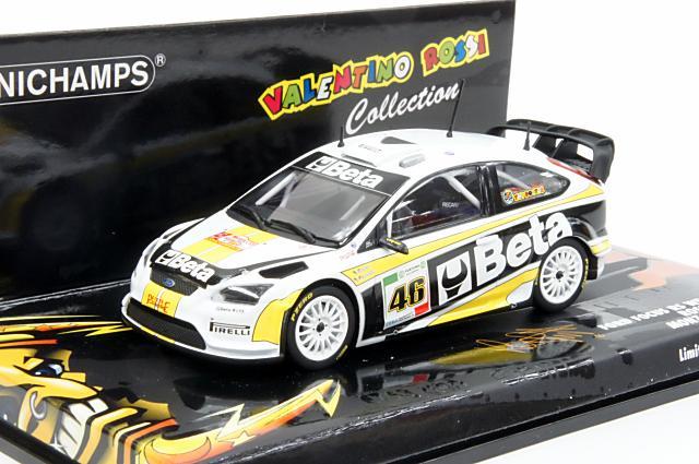 """ミニカー 1/43 ミニチャンプス MINICHAMPS(400088946) フォード フォーカス RS WRC """"Beta"""" 2008年 モンツァラリー No.46 Rossi/Cassina"""