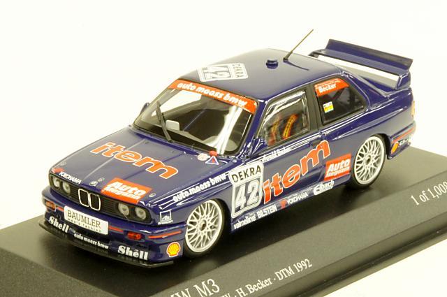 """ミニカー 1/43 ミニチャンプス MINICHAMPS(430922042) BMW M3(E30) """"Auto Maas BMW"""" 1992年 DTM No.42 H.Becker"""