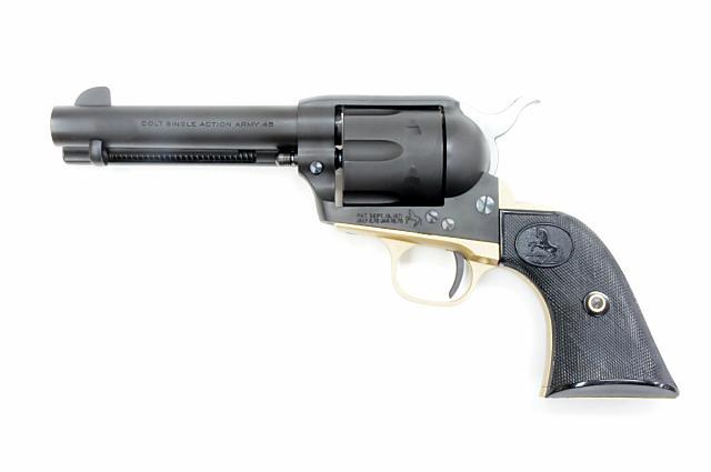 クラフト・アップル・ワークス CAW コルト S.A.A. .45 2ndジェネレーション シビリアン 4-3/4インチ 真鍮製 トリガーガード & バックストラップ付き 発火モデルガン(CAW-MV0544)