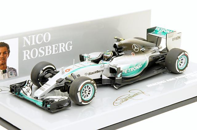 ミニカー 1/43 ミニチャンプス MINICHAMPS(410150006) メルセデスAMG ペトロナスF1チーム W06 ハイブリッド 2015年 オーストラリアGP No.6 N.ロズベルグ