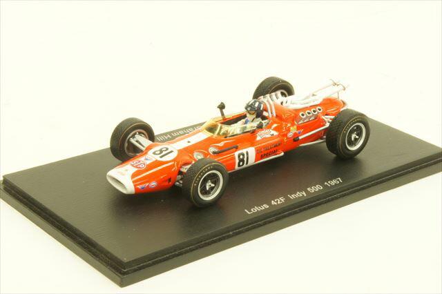 ミニカー 1/43 スパーク Spark(S4275) ロータス 42F 1967年 インディ500 No.81 G.Hill