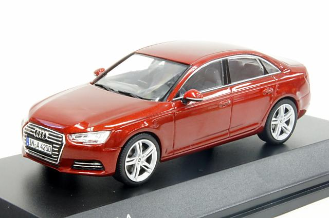 ミニカー 1/43 アウディ特注/スパーク Audi/Spark(5011504123) アウディ A4 2015 マタドールレッド