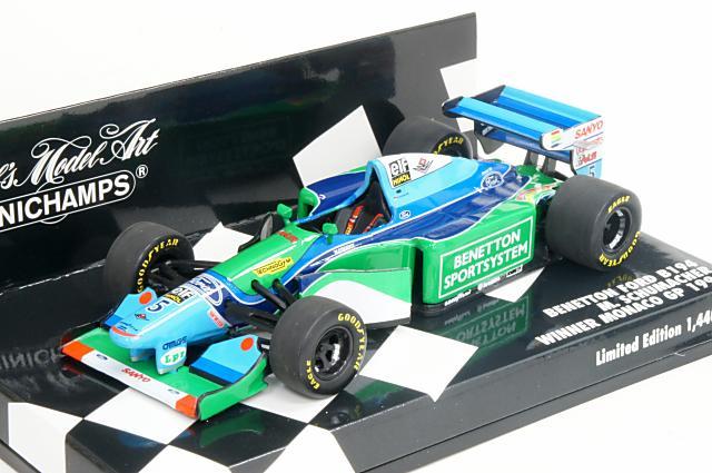 ミニカー 1/43 ミニチャンプス MINICHAMPS(400940005) ベネトン フォード B194 1994年 モナコGP 優勝 No.5 M.Schumacher(フィギュア無)