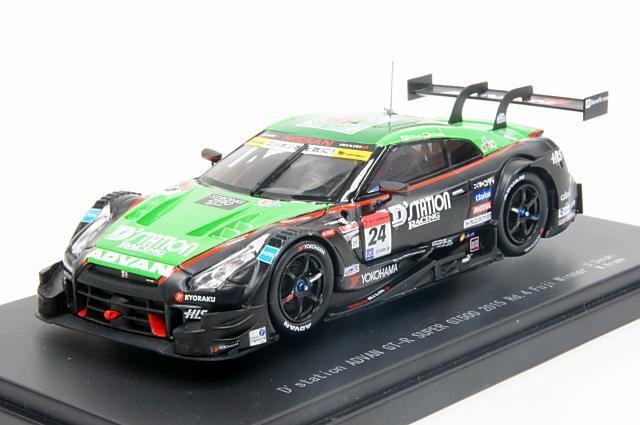 ミニカー 1/43 エブロ EBBRO(45280) Dステーション アドバン GT-R 2015年 スーパーGT 500クラス Rd.4 富士 優勝 No.24 佐々木 大樹/ミハエル・クルム