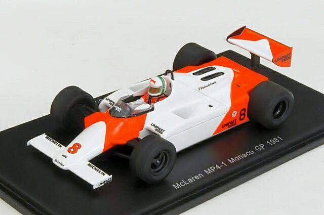 ミニカー 1/43 スパーク Spark(S4301) マクラーレン MP4/1 1981年 モナコGP No.8 A.De Cesaris