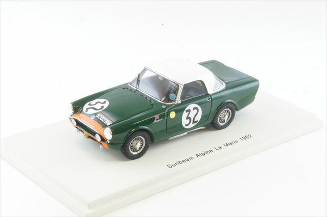 ミニカー 1/43 スパーク Spark(S4050) サンビーム アルピーヌ 1962年 ル・マン24時間 No.32 P.Harper/P.Procter