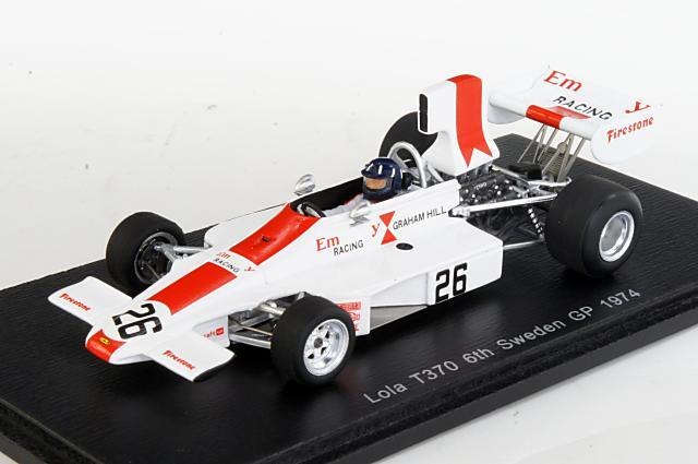 ミニカー 1/43 スパーク Spark(S4352) ローラ T370 1974年 スウェーデンGP 6位 No.26 G.Hill