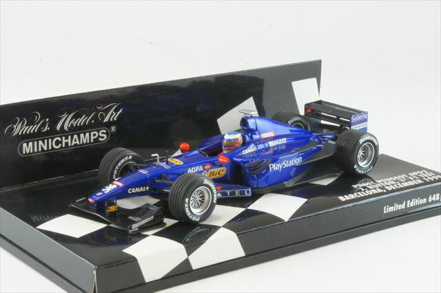 ミニカー 1/43 ミニチャンプス MINICHAMPS(400990119) プロスト プジョー AP02 J.Button F1 初テスト バルセロナ 1999年12月