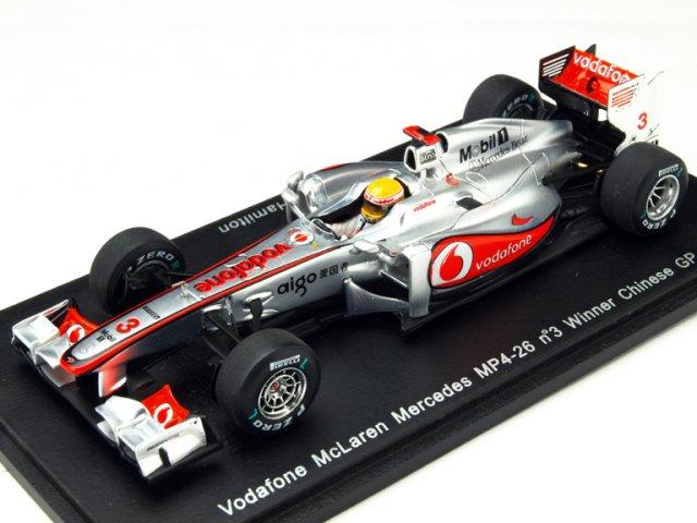 ミニカー 1/43 スパーク Spark マクラーレン MP4-26 2011 中国GP #3 L.Hamilton(S3022)