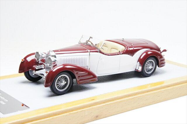 ミニカー 直輸入品 クロームス (Chro74) 1/43 ブガッティ T57 Roadster 1934 Gangloff sn57217 Current Car Burgundy/ホワイト