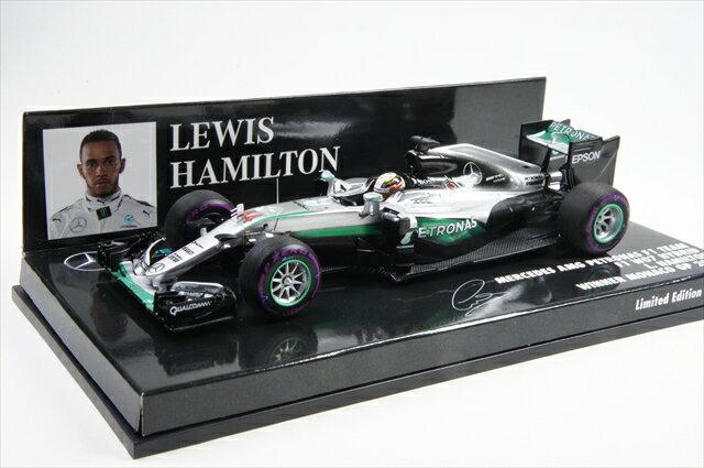 ミニカー ミニチャンプス (417160344) 1/43 メルセデス AMG ペトロナス フォーミュラ1 チーム F1 W07 ハイブリッド ルイス・ハミルトン モナコGP 2016 ウイナー