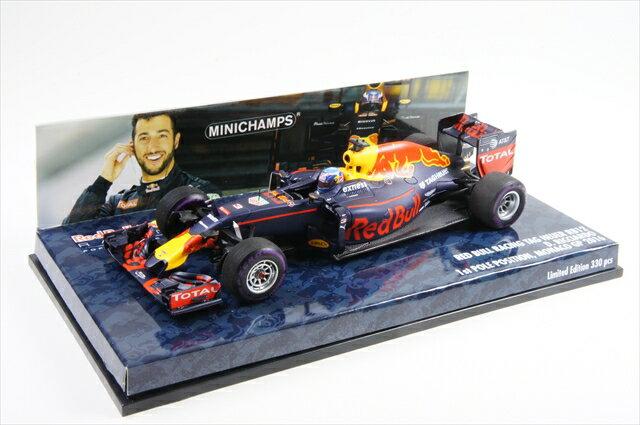 ミニカー ミニチャンプス (417160103) 1/43 レッド ブル レーシング タグ ホイヤー RB12 ダニエル・リカルド モナコGP 2016 ポールポジション