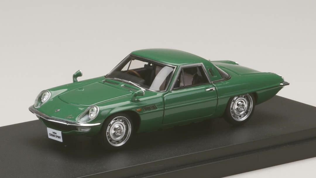 ミニカー MARK43 (PM4381G) 1/43 マツダ コスモスポーツ (L10B) 1967 グリーンメタリック