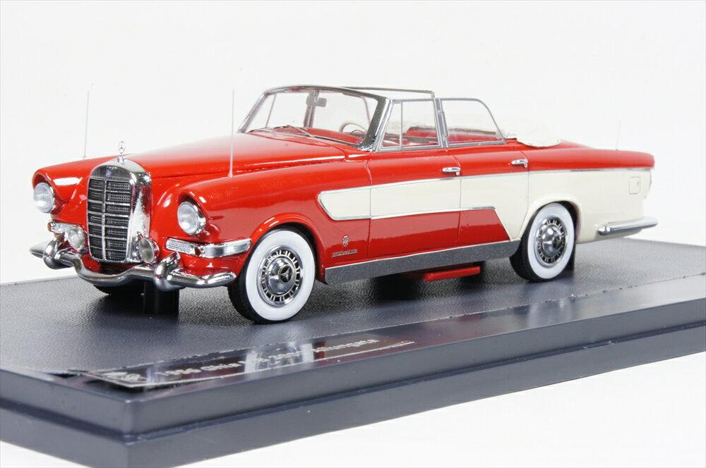 ミニカー マトリックス (MX41302-021) 1/43 メルセデス Ghia 300C Allungata カブリオ 1956 レッド/ホワイト