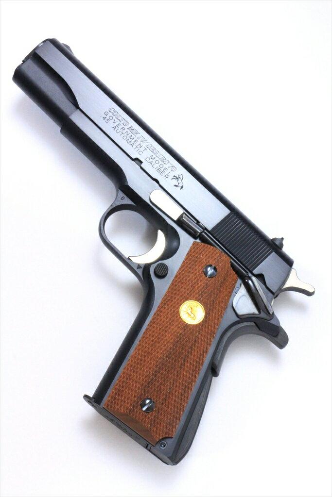 六研/エラン ROCKEN/ELAN コルト MK IV シリーズ'70 ハリウッドカット DUOブローバック モデルガン