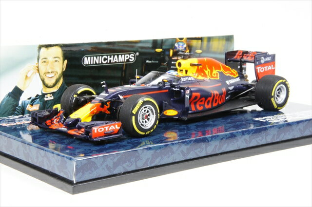 """ミニカー ミニチャンプス (417160203) 1/43 レッド ブル レーシング タグホイヤー RB12 F1 ロシアGP 2016 D.リカルド フリープラクティス """"エアロシールドテスト"""""""