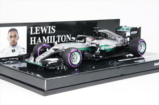 ミニカー ミニチャンプス (417160444) 1/43 メルセデス AMG ペトロナス F1チーム W07 ハイブリッド F1 シンガポールGP 2016 L.ハミルトン HALOテスト2016
