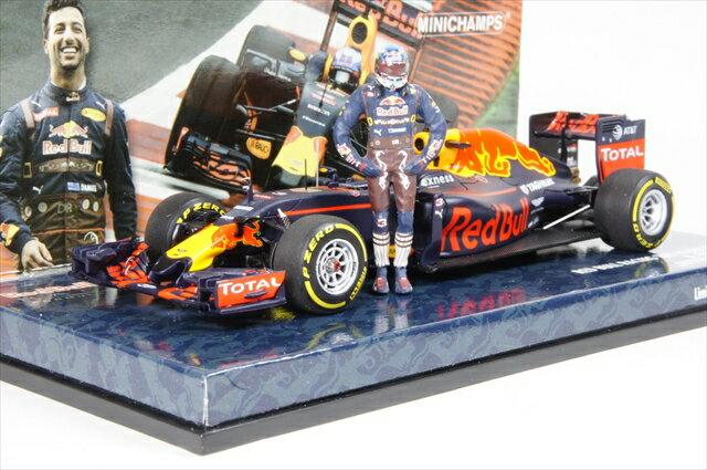 ミニカー ミニチャンプス (417160603) 1/43 レッド ブル レーシング タグホイヤー RB12 F1 オーストリアGP 2016 D.リカルドフィギュア付