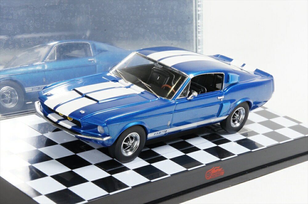 ミニカー グッドスマイルレーシング (AM-001) 1/43 シェルビー GT-500 1967年 ブルー/ホワイトストライプ