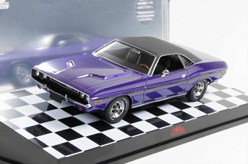 ミニカー グッドスマイルレーシング (AM-003) 1/43 ダッジ チャレンジャー 1970 メタリックパープル/ブラック