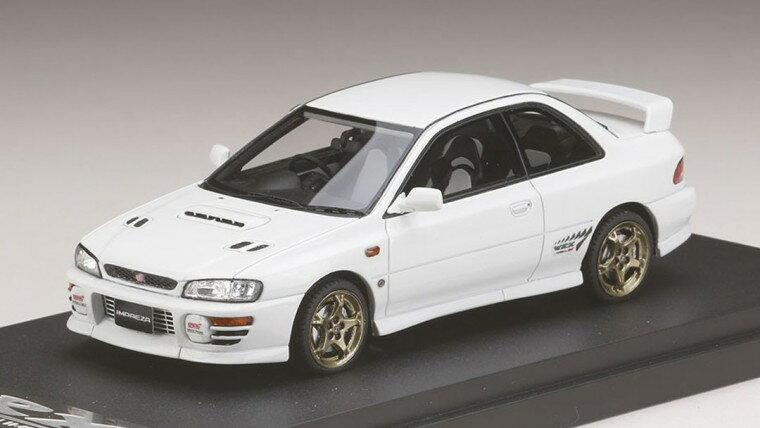 ミニカー MARK43 (PM4357W) 1/43 スバル インプレッサWRX タイプR Sti Ver.1997(GC8) フェザーホワイト